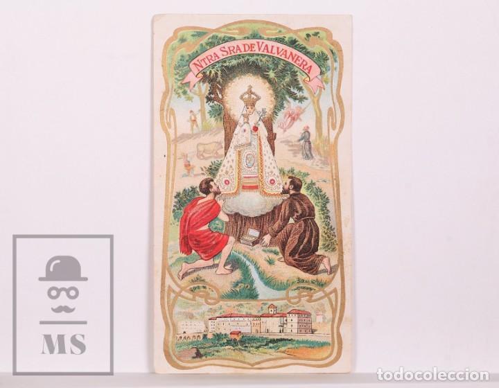 ANTIGUA ESTAMPA RELIGIOSA MODERNISTA - NUESTRA SEÑORA DE VALVANERA - PRINCIPIOS S. XX (Postales - Postales Temáticas - Religiosas y Recordatorios)