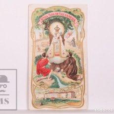 Postales: ANTIGUA ESTAMPA RELIGIOSA MODERNISTA - NUESTRA SEÑORA DE VALVANERA - PRINCIPIOS S. XX. Lote 168824372