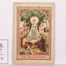 Postales: ANTIGUA ESTAMPA RELIGIOSA - NUESTRA SEÑORA DE VALVANERA - PRINCIPIOS S. XX. Lote 168824512