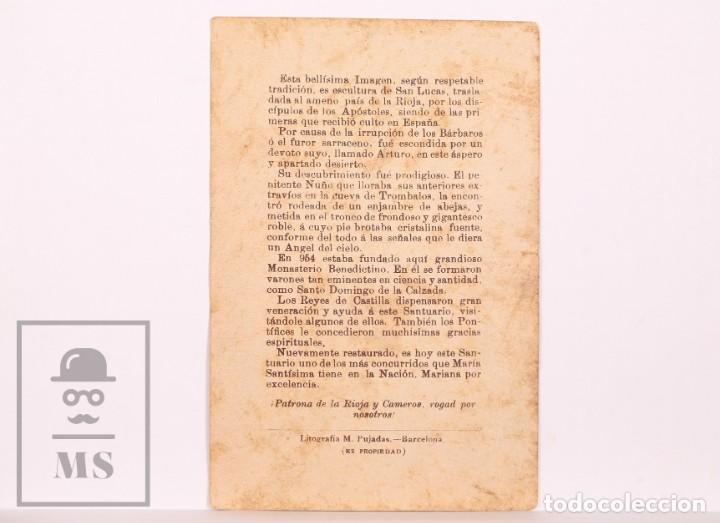 Postales: Antigua Estampa Religiosa - Nuestra Señora de Valvanera - Principios S. XX - Foto 2 - 168824512
