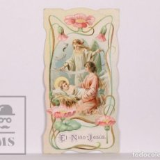 Postales: ANTIGUA ESTAMPA RELIGIOSA MODERNISTA - EL NIÑO JESÚS - PRINCIPIOS S. XX. Lote 168825892