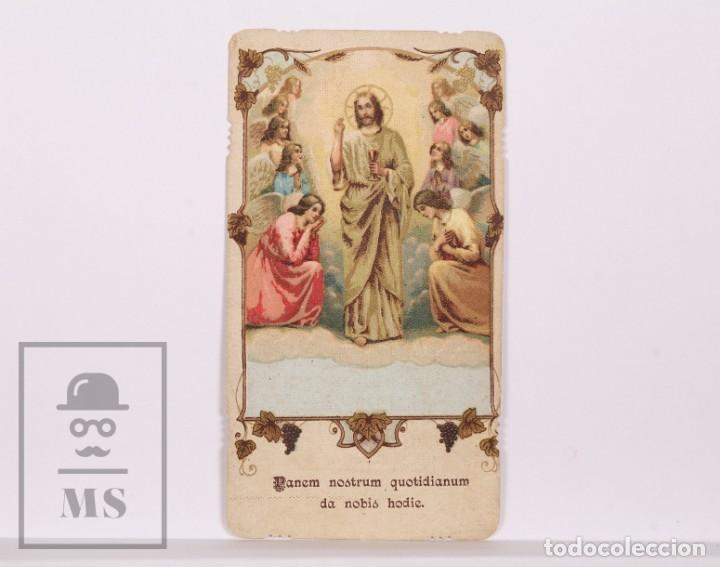 ANTIGUA ESTAMPA RELIGIOSA / RECORDATORIO 1ª COMUNIÓN - BARCELONA, AÑO 1933 (Postales - Postales Temáticas - Religiosas y Recordatorios)