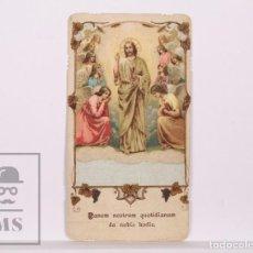 Postales: ANTIGUA ESTAMPA RELIGIOSA / RECORDATORIO 1ª COMUNIÓN - BARCELONA, AÑO 1933. Lote 168826496