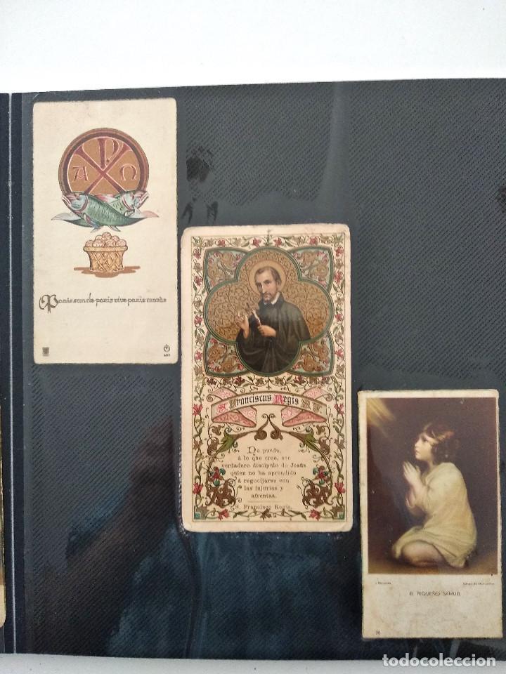 Postales: ALBUM CON 70 RECORDATORIOS MUY ANTIGUOS Y BONITOS - VER FOTOGRAFÍAS - Foto 9 - 168939220
