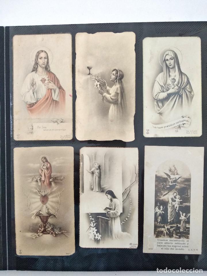 Postales: ALBUM CON 70 RECORDATORIOS MUY ANTIGUOS Y BONITOS - VER FOTOGRAFÍAS - Foto 11 - 168939220
