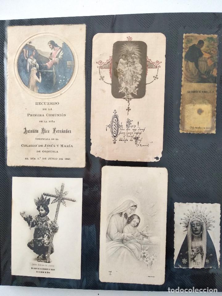 Postales: ALBUM CON 70 RECORDATORIOS MUY ANTIGUOS Y BONITOS - VER FOTOGRAFÍAS - Foto 14 - 168939220