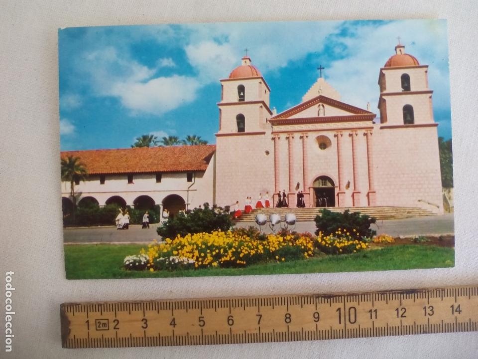 SANTA BARBARA MISSION. CALIFORNIA USA. HI-FI. SIN CIRCULAR POSTAL. POSTCARD (Postales - Postales Temáticas - Religiosas y Recordatorios)