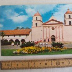 Postales: SANTA BARBARA MISSION. CALIFORNIA USA. HI-FI. SIN CIRCULAR POSTAL. POSTCARD. Lote 169353804