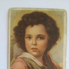 Postales: ANTIGUA ESTAMPA RELIGIOSA EL DIVINO PASTOR (DETALLE). MURILLO. MUSEO DEL PRADO. LT516. Lote 169415088