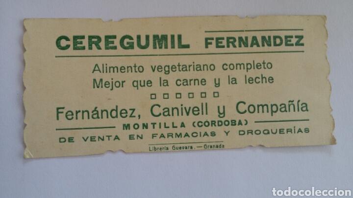 Postales: Estampa religiosa troquelada. Publicidad de Ceregumil. Fernández, Canivell y Cia. Montilla, Córdoba - Foto 2 - 169415896