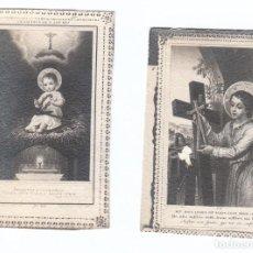 Postales: 2 PEQUEÑAS ESTAMPAS RELIGIOSAS. NIÑO JESÚS. AÑOS 30? AA. Lote 169435008