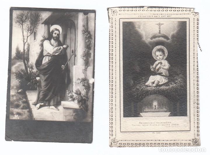 2 PEQUEÑAS ESTAMPAS RELIGIOSAS. CRISTO Y NIÑO JESÚS. AÑOS 30? AA (Postales - Postales Temáticas - Religiosas y Recordatorios)