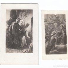 Postales: 2 ESTAMPAS RELIGIOSAS. ESCENAS DE LA BIBLIA. AÑOS 30? AA. Lote 169438656