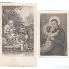 Postales: 2 ESTAMPAS RELIGIOSAS. ESCENAS DE LA BIBLIA, SANTO. AÑOS 30? AA. Lote 169439188