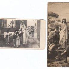 Postales: 2 ESTAMPAS RELIGIOSAS. ESCENAS DE LA BIBLIA. AÑOS 30? AA. Lote 169439648