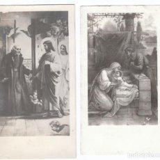Postales: 2 ESTAMPAS RELIGIOSAS. ESCENAS DE LA BIBLIA. AÑOS 30? AA. Lote 169439928
