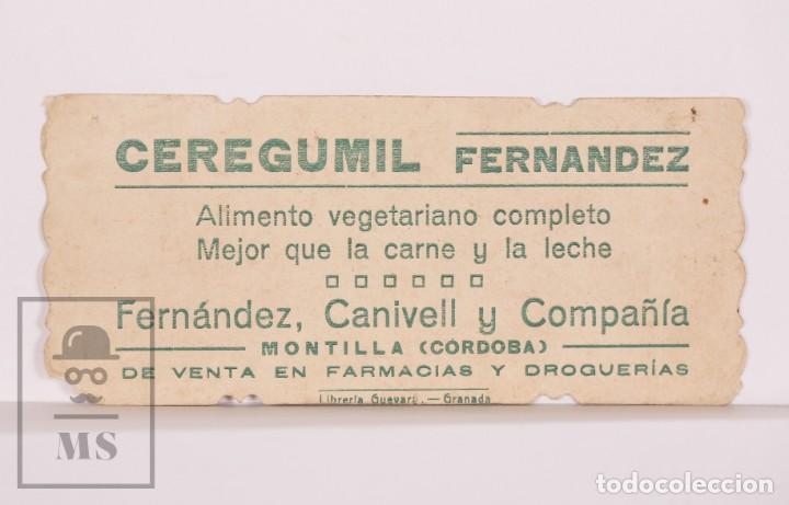 Postales: Antigua Estampa Religiosa - Jesús y las Cruces - Publicidad Ceregumil Fernández, Montilla. Córdoba - Foto 2 - 169563040