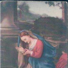 Postales: POSTAL VIRGEN EN ADORACION - GALERIA UFFIZI FLORENCIA. Lote 169604124