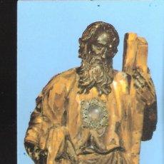 Postales: SAN ANDRÉS DE TEIXIDO. RECORDATORIO. HISTORIA Y ORACIÓN AL SANTO EN GALLEGO.. Lote 169910324