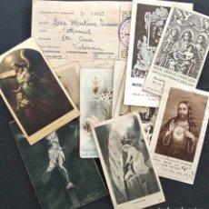 Postales: MANUEL (VALENCIA) - LOTE 12 ESTAMPITAS RELIGIOSAS ANTIGUAS VARIADAS AÑOS 40 Y 50. Lote 170065048