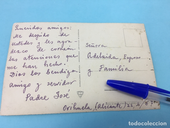 Postales: POSTAL NTRA. SRA. DE LAS TRES AVEMARIAS - ESCRITA Y FECHADA 1967 - Foto 2 - 170419880