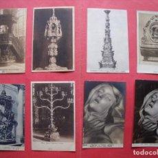Postales: POSTALES.-RELIGION.-PULPITO.-CUSTODIA.-CANDELABRO.-RELICARIO.-SANTA TERESA.-LOTE DE 8 POSTALES.. Lote 170420984