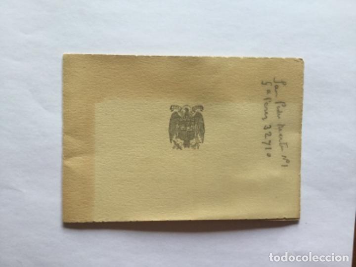 Postales: INVITACIÓN ACTOS TRASLADO RESTOS MORTALES PRIMO DE RIVERA Y ORBANEJA - Foto 2 - 170549244