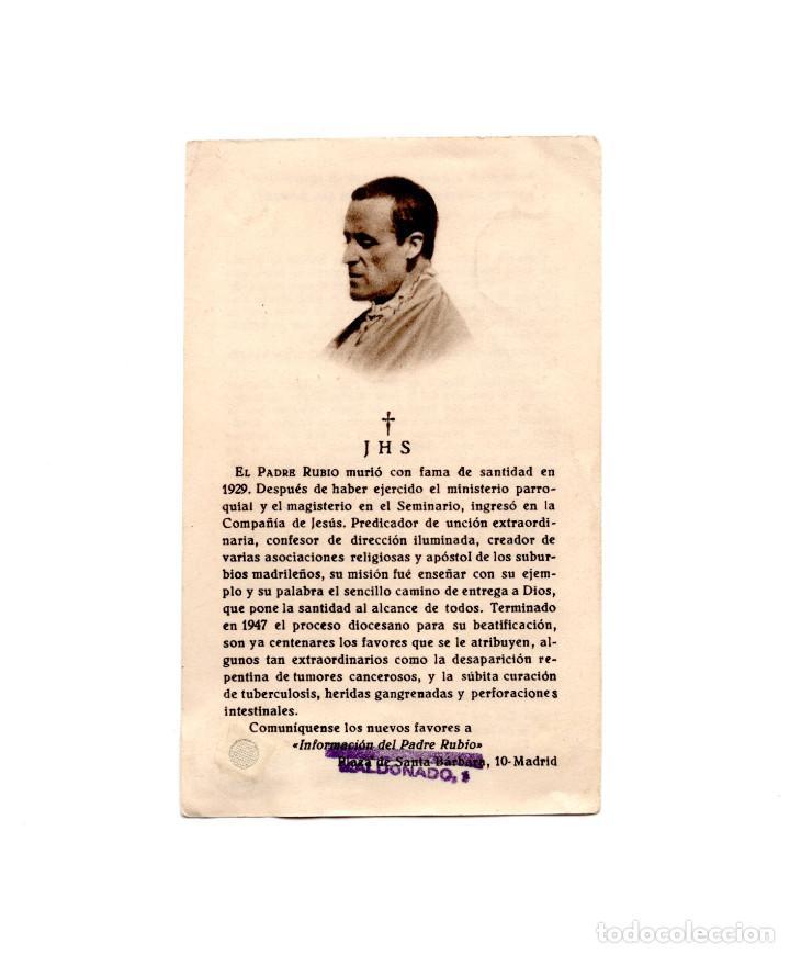 RECORDATORIO.- PADRE RUBIO 1947. CON RELIQUIA. (Postales - Postales Temáticas - Religiosas y Recordatorios)
