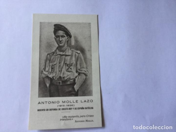 RECORDATORIOS ANTONIO MOLLE LAZO (Postales - Postales Temáticas - Religiosas y Recordatorios)