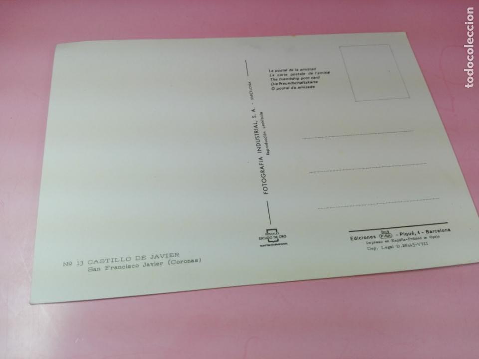 Postales: Postal-Castillo de Javier(Coronas)-1958-Ediciones FISA-Fotografía Industrial S.A.-Excelente-Ver fot - Foto 2 - 170983904