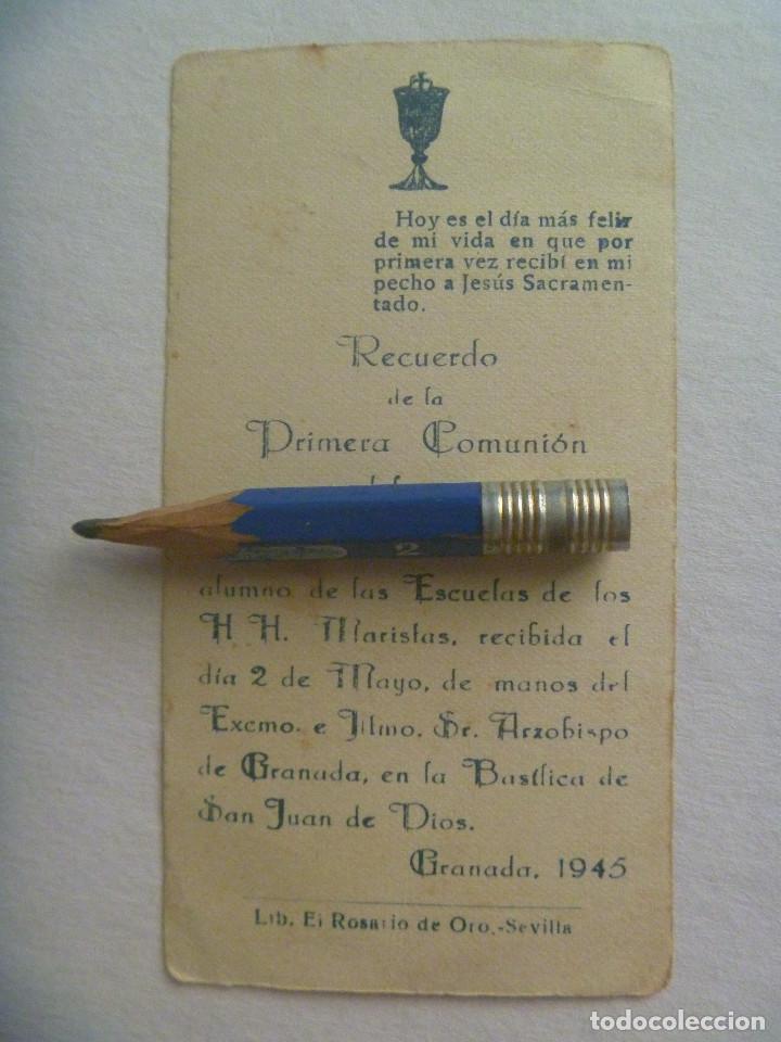 Postales: ESTAMPA DE COMUNION , GRANADA , 1945 - Foto 2 - 171074118