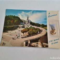 Postales: POSTAL CON MEDALLA DE PLATA A LOURDES 1978. Lote 171228969