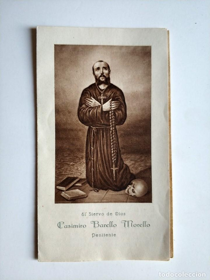 ANTIGUA ESTAMPA CASIMIRO BARELLO MORELLO PENITENTE VALENCIA 1928 (Postales - Postales Temáticas - Religiosas y Recordatorios)