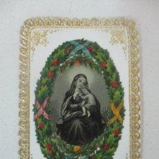 Postales: ANTIGUA ESTAMPA - VIRGEN - TROQUELADA Y CON PUNTILLA CALADA. Lote 171511195