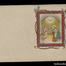 Postales: ANTIGUA ESTAMPA DE COMUNION - CARNET - ILUSTRACION M. DE OLAÑETA - ORIGINAL - SIN TEXTO. Lote 171791310