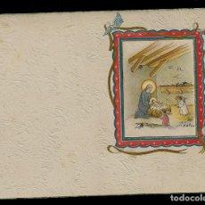 Postales: ANTIGUA ESTAMPA DE COMUNION - CARNET - ILUSTRACION M. DE OLAÑETA - ORIGINAL - SIN TEXTO. Lote 171791449