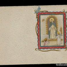 Postales: ANTIGUA ESTAMPA DE COMUNION - CARNET - ILUSTRACION M. DE OLAÑETA - ORIGINAL - SIN TEXTO. Lote 171791497