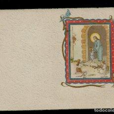 Postales: ANTIGUA ESTAMPA DE COMUNION - CARNET - ILUSTRACION M. DE OLAÑETA - ORIGINAL - SIN TEXTO. Lote 171791560