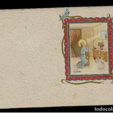 Postales: ANTIGUA ESTAMPA DE COMUNION - CARNET - ILUSTRACION M. DE OLAÑETA - ORIGINAL - SIN TEXTO. Lote 171791625