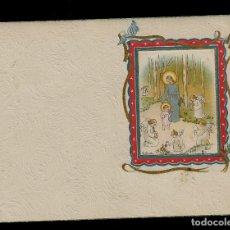 Postales: ANTIGUA ESTAMPA DE COMUNION - CARNET - ILUSTRACION M. DE OLAÑETA - ORIGINAL - SIN TEXTO. Lote 171791687