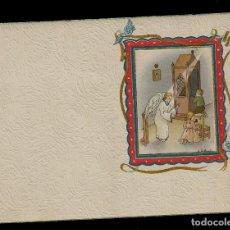 Postales: ANTIGUA ESTAMPA DE COMUNION - CARNET - ILUSTRACION M. DE OLAÑETA - ORIGINAL - SIN TEXTO. Lote 171791744