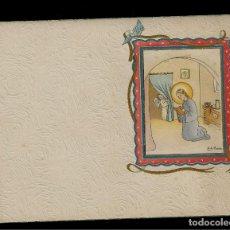 Postales: ANTIGUA ESTAMPA DE COMUNION - CARNET - ILUSTRACION M. DE OLAÑETA - ORIGINAL - SIN TEXTO. Lote 171791788