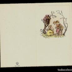 Postales: ANTIGUA ESTAMPA DE COMUNION - CARNET - ILUSTRACION BENAGES - ORIGINAL - SIN TEXTO. Lote 171791964