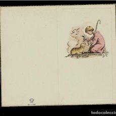 Postales: ANTIGUA ESTAMPA DE COMUNION - CARNET - ILUSTRACION BENAGES - ORIGINAL - SIN TEXTO. Lote 171792029