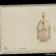 Postales: ANTIGUA ESTAMPA DE COMUNON CON PUNTILLA- ED. DE ARTE - IMP EN ITALIA-MENGA MILANO- SIN TEXTO. Lote 171793739