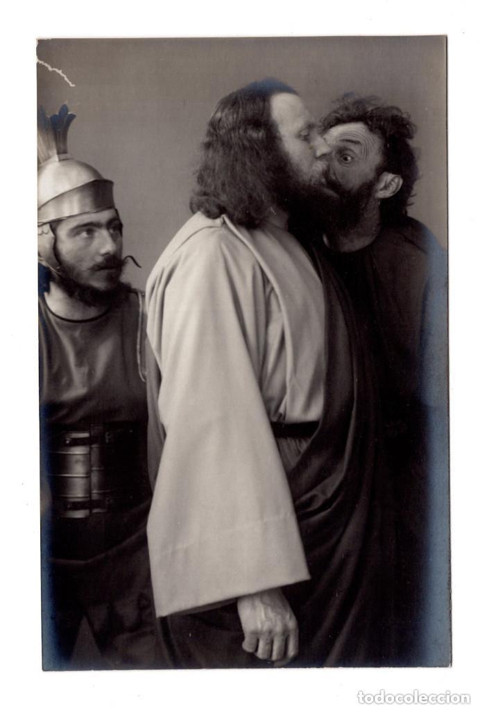 FOTO POSTAL PASION DE CRISTO - PASSIONSSPIEL CB OBERAMMERGAU 1910 - F. BRUCKMANN A.-G. MÜNCHEN. (Postales - Postales Temáticas - Religiosas y Recordatorios)