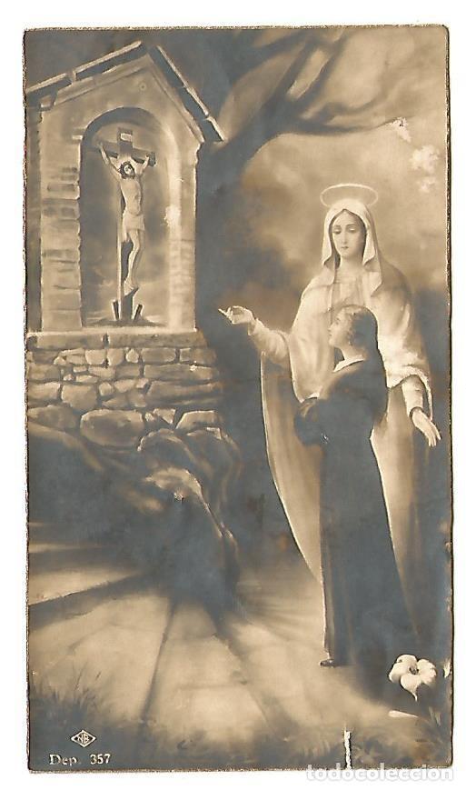ESTAMPA 1935 RECUERDO EJERCICIOS ESPIRITUALES COLEGIO SAGRADO CORAZON EN VIMBODI ( TARRAGONA (Postales - Postales Temáticas - Religiosas y Recordatorios)