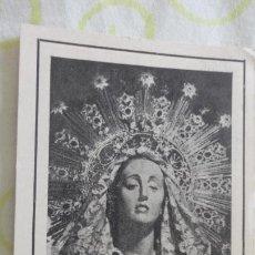 Postales: RECUERDO SALVE SOLEMNE.VIRGEN PRIMER DOLOR.CALIFORNIOS.CARTAGENA.. Lote 172007173