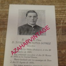 Postales: BADAJOZ, LA HABA. RECORDATORIO FUSILADO GUERRA CIVIL.. Lote 172144672