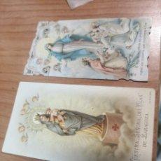 Postales: 2 ESTAMPAS RELIGIOSAS. Lote 172269194